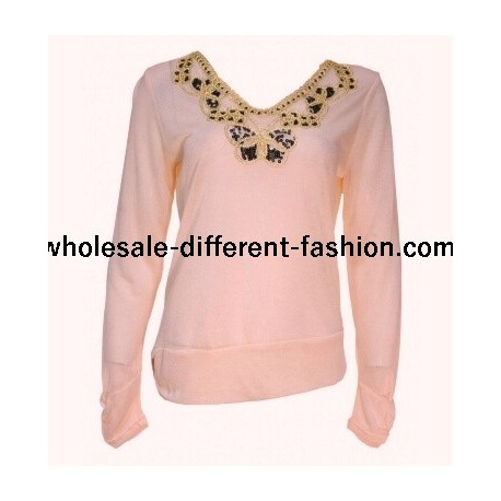 t-shirt top blusas inverno marca 101 idees 1671R fabricante