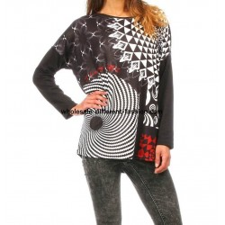 revendedor t-shirt top blusas inverno marca 101 idees 278 IN roupas
