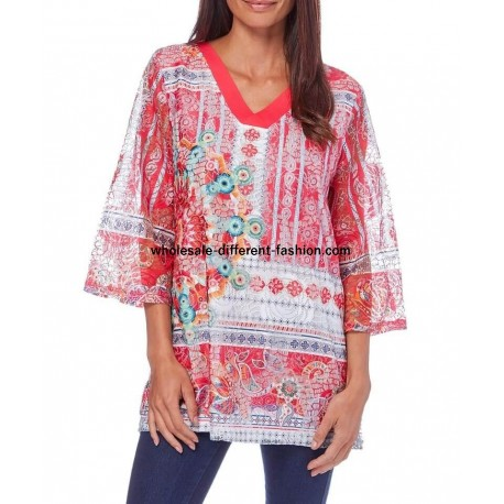 t-shirt top 101 idees 327RE fabricante armazenista roupa mulher online