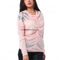 t-shirt top blusas inverno marca 101 idees 3238R fabricante